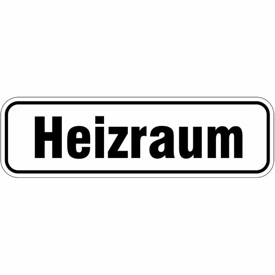 Heizraum Türbeschriftung Aufkleber oder Schild 17 x 5 cm