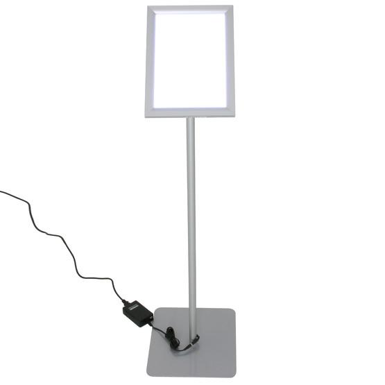 LED Infodisplay MAGNE A4 A3 Menuboard Infoständer mit Klapprahmen