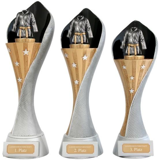 Pokal Judo Kampfsport Serie AUXON Trophäe 3 Größen mit Gravur