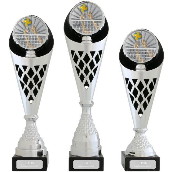 Pokal Volleyball Serie VERDUN Trophäe silber groß mit Gravur