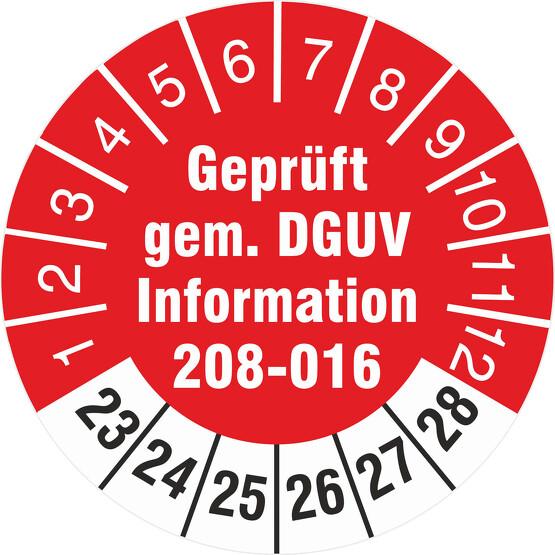 Prüfetiketten geprüft DGUV Information 208-016 Leitern und Tritte 2019