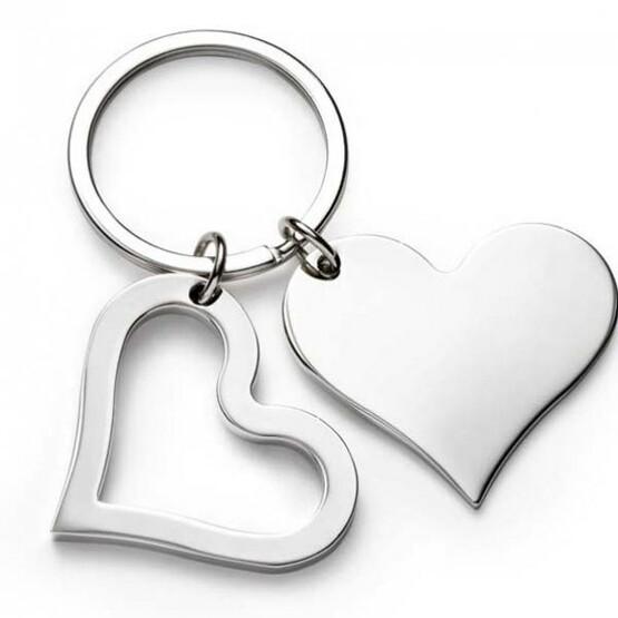 Schlüsselanhänger KALA Herz doppelt groß mit Gravur Namen