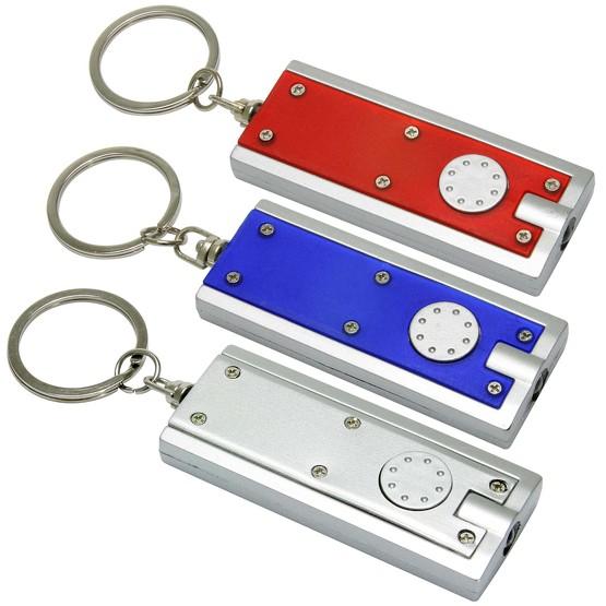 Schlüsselanhänger LED Lampe LUMO mit Druck Werbung Logo bedruckt
