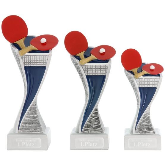 Tischtennis Pokal Pokalset METZ mit Gravurplatte und Gravur