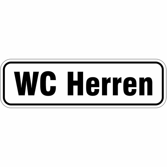 WC Herren Türbeschriftung Aufkleber oder Schild 17 x 5 cm