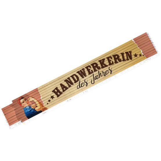 Zollstock Handwerkerin des Jahres 2 Meter Holz ADGA Heimwerkerin