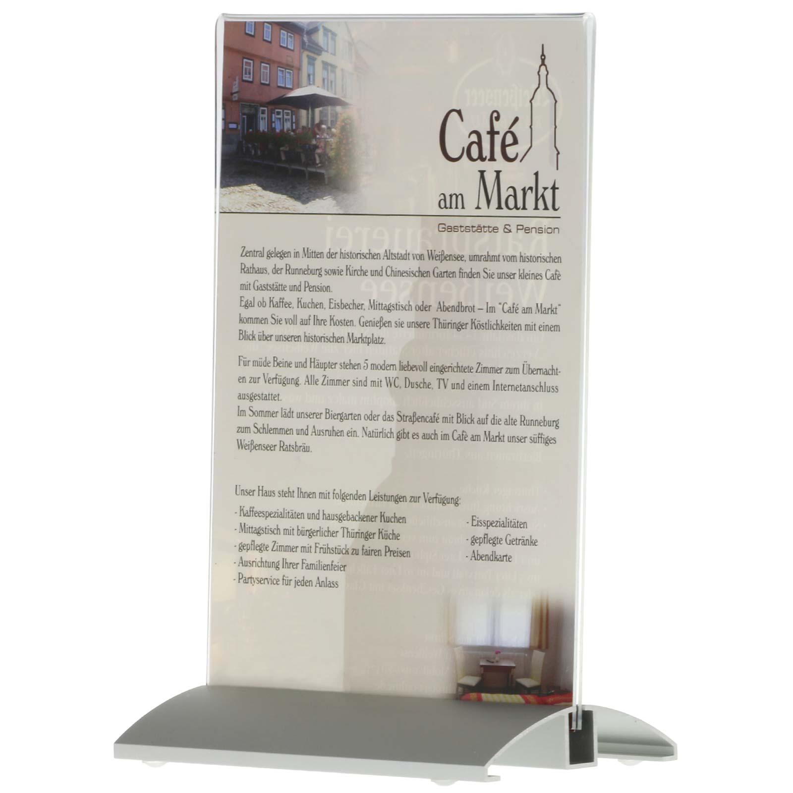 men kartenhalter mit silber eloxiertem aluminium profil mit acryl plakattasche ebay. Black Bedroom Furniture Sets. Home Design Ideas