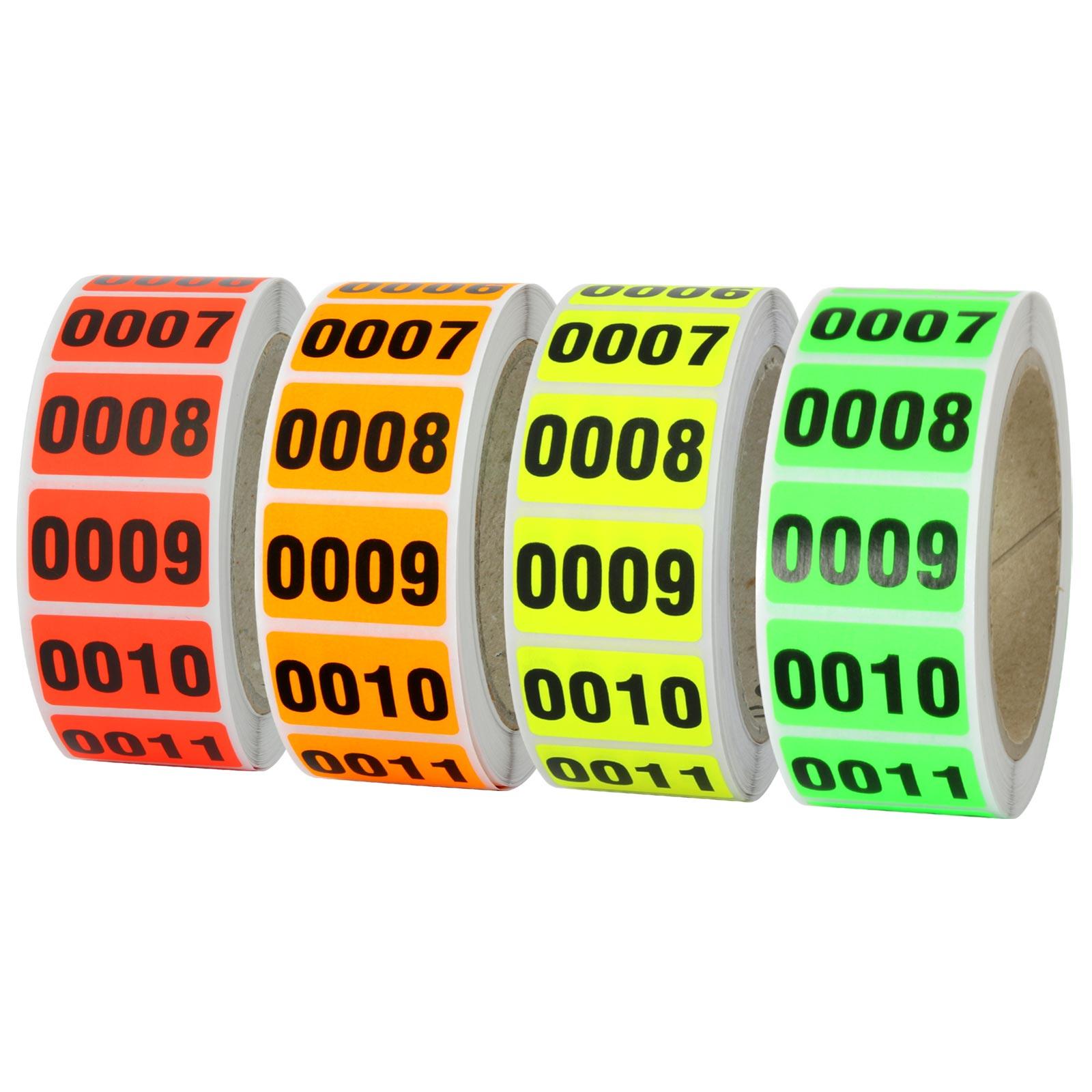 Adressetiketten mit Wunschdruck 200 St/ück 38 x 23 mm Haftpapier leuchtgelb