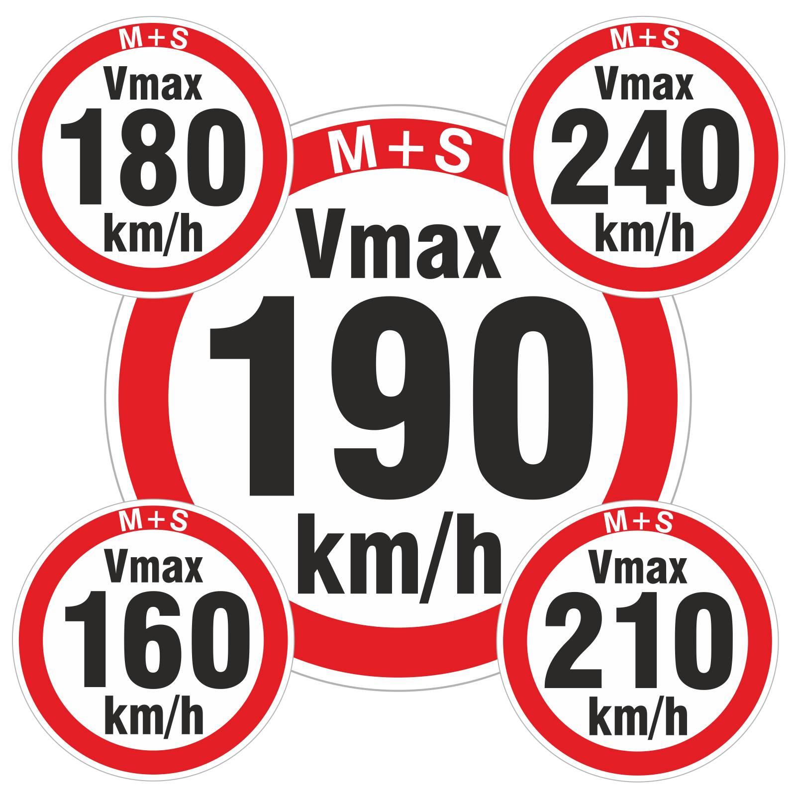 Geschwindigkeitsaufkleber Kmh Aufkleber Reifen Winterreifen