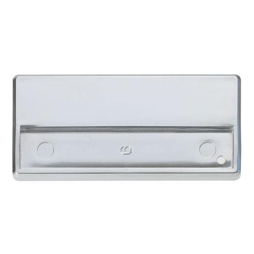 Namensschilder flach mit Magnet Kunststoff silber matt 64 x 12,50 mm