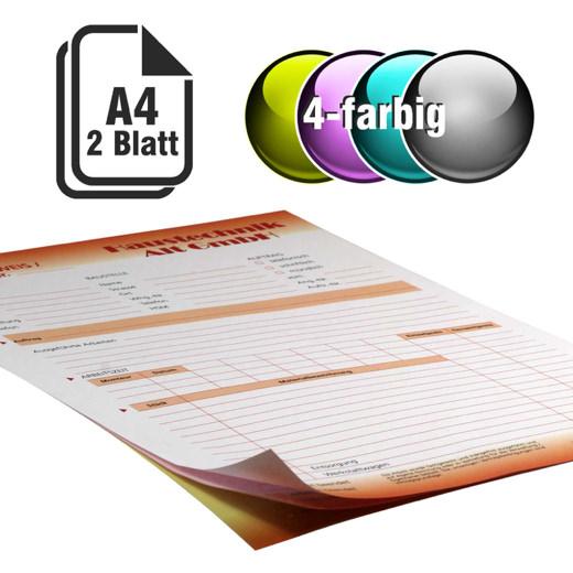 Durchschreibesätze 4-farbig A4 1-fach durchschreibend