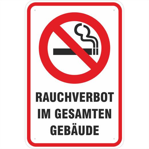 Schild Rauchen verboten Rauchverbot 3 mm Alu 3 Größen