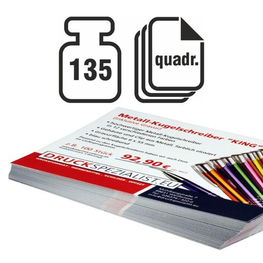 Flyer Quadrat 135g beidseitig 4/4 matt