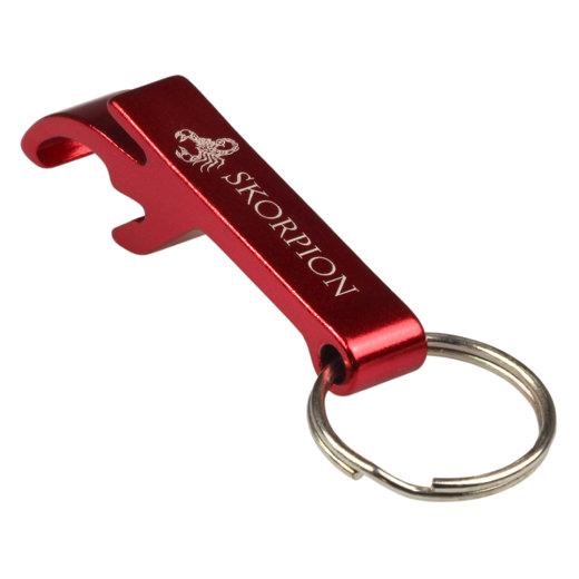 Schlüsselanhänger Flaschenöffner Aluminium inklusive Lasergravur Gravur Werbung