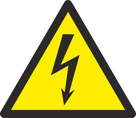 Aufkleber oder Schild Warnung vor elektrischer Spannung W012 diverse Größen