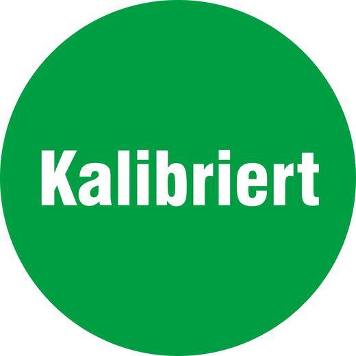 Aufkleber Prüfaufkleber kalibriert grün 18 oder 30 mm rund