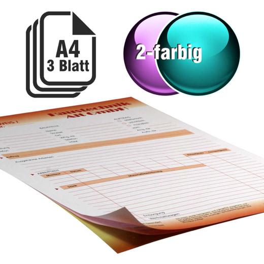 Durchschreibesätze 2-farbig A4 2-fach durchschreibend