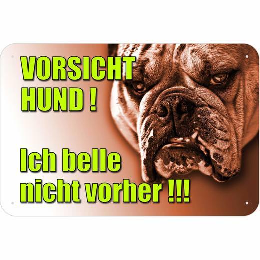 Schild gefährlicher bissiger Hund 3mm Aluverbund Warnung Vorsicht Hunde