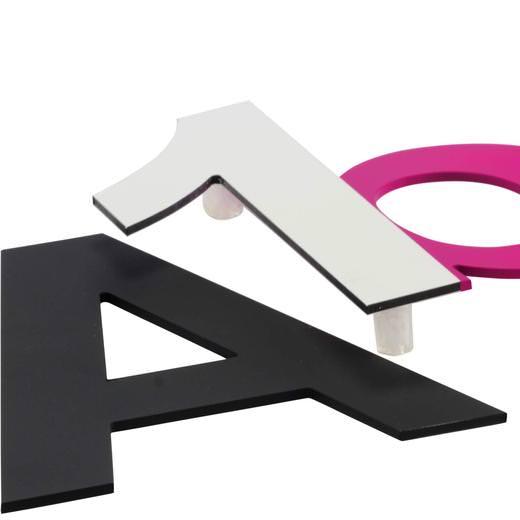 Zahlen Buchstaben 3D Metall Alu 14 cm hoch 3mm stark