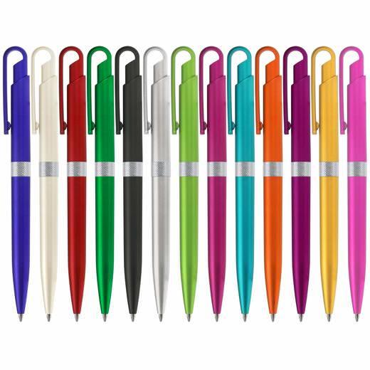 Kugelschreiber Coco PVC und Metall mit Druck Logo Werbung 1-farbig