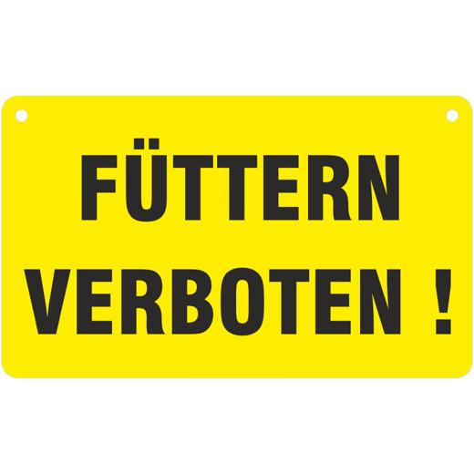 Füttern verboten Weidezaunschild Schild 20x12 cm Weidezaun