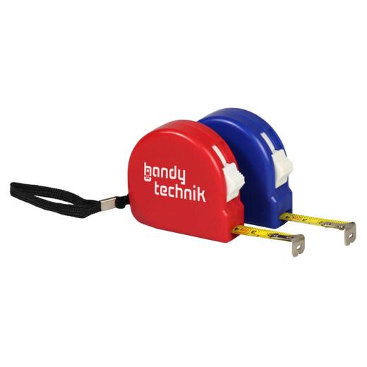 Rollmaßband Maßband 2 Meter mit Clip inklusive Druck Logo Werbung 1-farbig