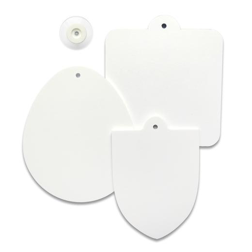 Saugnapfschilder 2mm PVC weiß unbedruckt zum selbst beschriften bekleben bedrucken