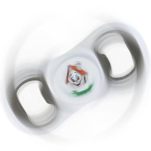 Hand Spinner Fidget Spinner als Öffner Flaschenöffner mit Druck Werbung Logo 4-farbig