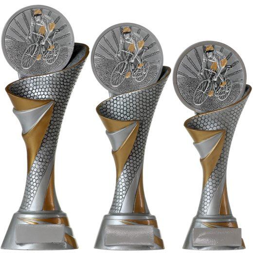FG Pokal Trophäe Radsport Radrennen mit Emblem 70 mm 3 Größen PVC
