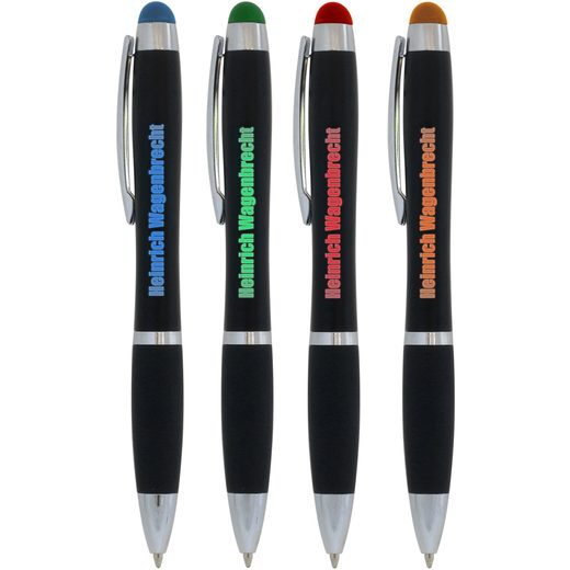 Kugelschreiber Sarina LED leuchtende Werbung mit Gravur
