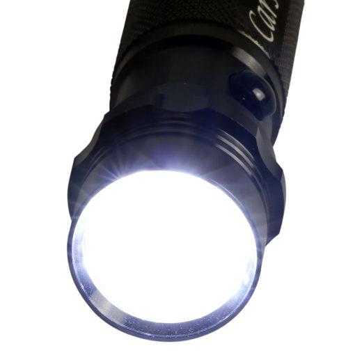 Helle 14-LED-Taschenlampe Robin Metall in Geschenkbox mit Gravur