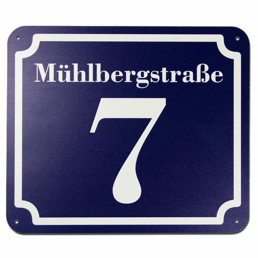 Hausnummer und Straße Schild Aluverbund 20 x 17 cm drucken nach Wunsch