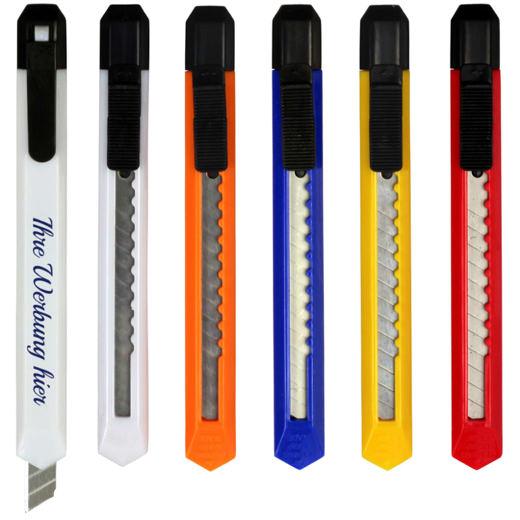 Papiermesser Kartonmesser Cutter schlank mit Druck 1-farbig