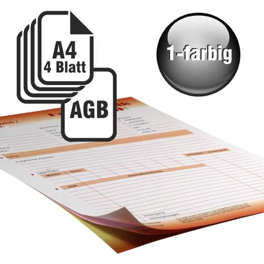 Durchschreibesätze 1/1-farbig A4 3-fach durchschreibend mit Rückseitendruck