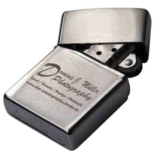 Original Zippo Benzinfeuerzeug mit Lasergravur