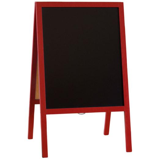 Farbiger Straßenaufsteller Kreidetafel Kundenstopper Holzaufsteller beidseitig 100 x 60 cm