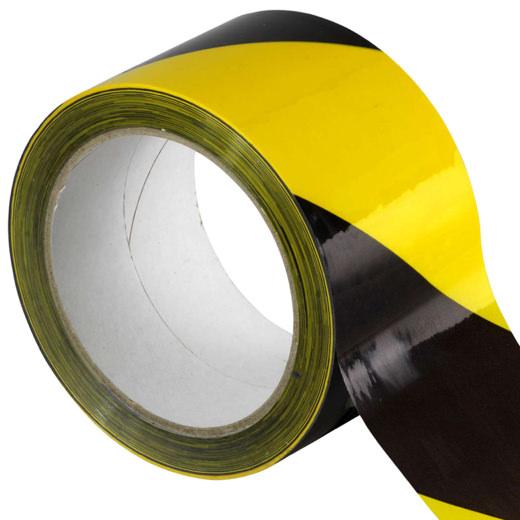 Absperrband schwarz gelb Klebeband Warnband für Gefahrenbereiche 50 mm x 66 m