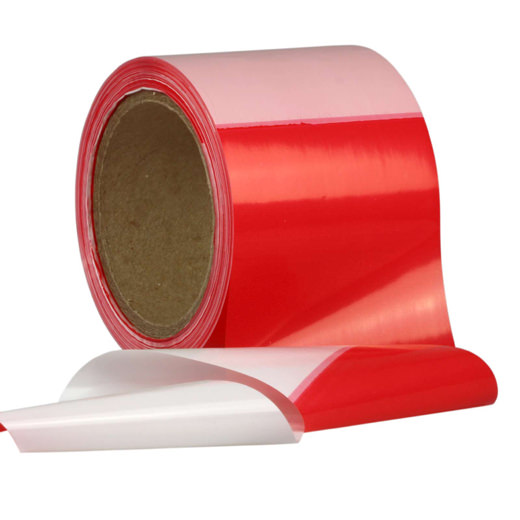 Absperrband Flatterband Warnband rot-weiß 80 mm reißfest 100 250 500 Meter