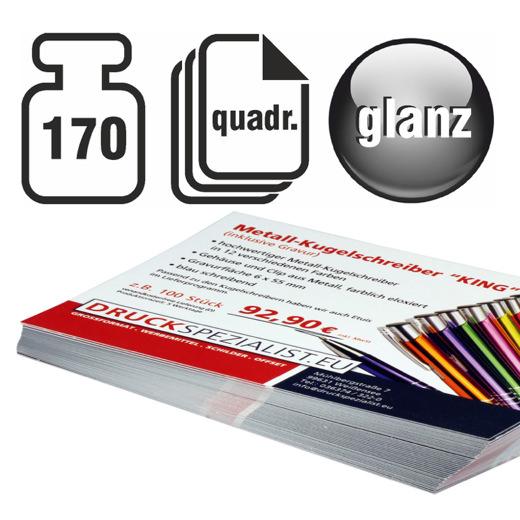 Flyer Quadrat 170g beidseitig 4/4 glänzend