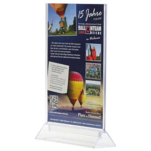 T-Aufsteller Tischaufsteller Werbeaufsteller Acryl beidseitig A6 A5 A4 Halter