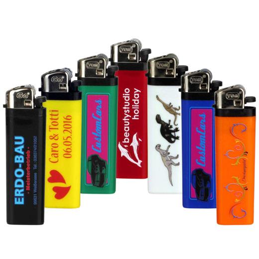 Feuerzeuge Reibrad mit Fotodruck 4-farbig ein- oder beidseitig Logo Werbung 10-2000 Stück