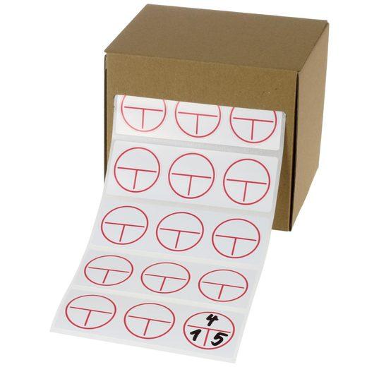 Etiketten Aufkleber 3-teilig Stromkreis Verteiler Kennzeichnung VDE 0108 30 mm Stromkreiskennzeichnung