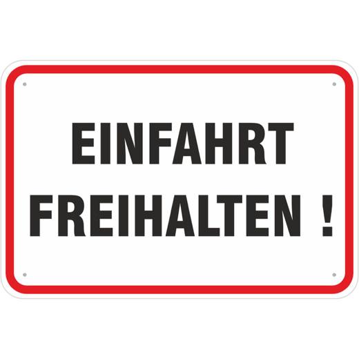 Hinweisschild Einfahrt freihalten Schild 3mm Alu Verbund 3 Größen