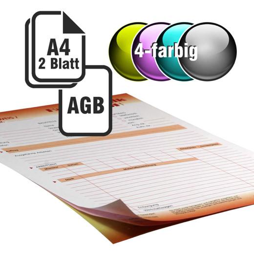 Durchschreibesätze 4/1-farbig A4 1-fach durchschreibend mit Rückseitendruck
