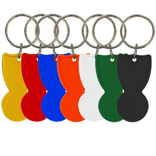 Einkaufswagenchip mit Schlüsselring als Schlüsselanhänger mit Druck 1-farbig