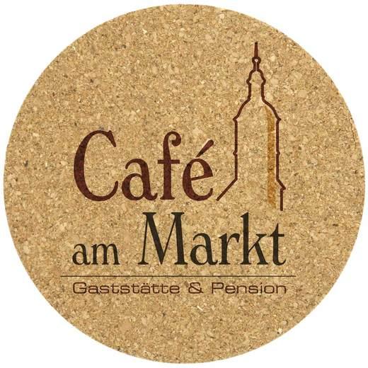 Untersetzer Kork bedruckt mit Motiv Text Logo Bierdeckel 1-farbig