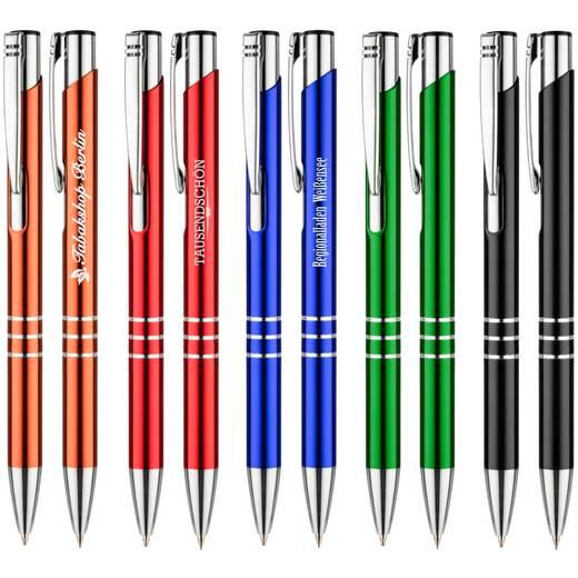 Schreibset LUNA Kugelschreiber und Bleistift im Etui mit Gravur Namen